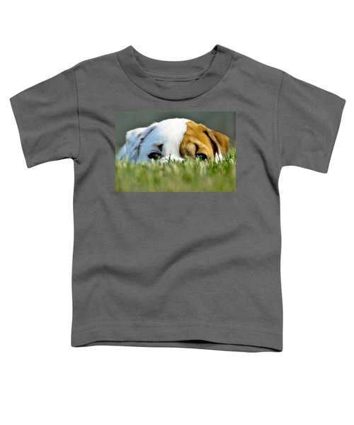 Toddler T-Shirt featuring the photograph Hide And Seek Novice by Andrea Platt