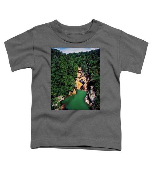 High Angle View Of The Tallulah Gorge Toddler T-Shirt