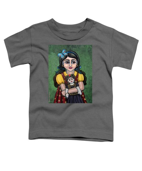 Holding Frida With Butterfly Toddler T-Shirt