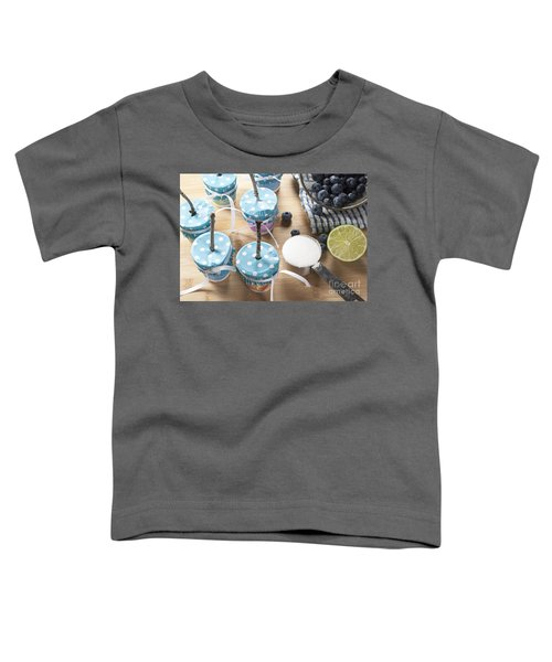 Homemade Blueberry Popsicles Toddler T-Shirt by Juli Scalzi
