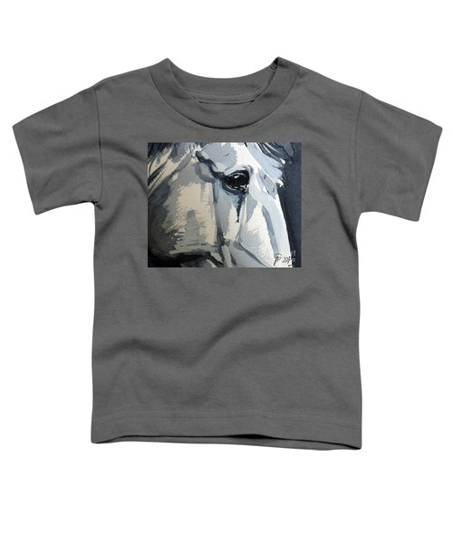 Toddler T-Shirt featuring the painting Horse Look Closer by Go Van Kampen