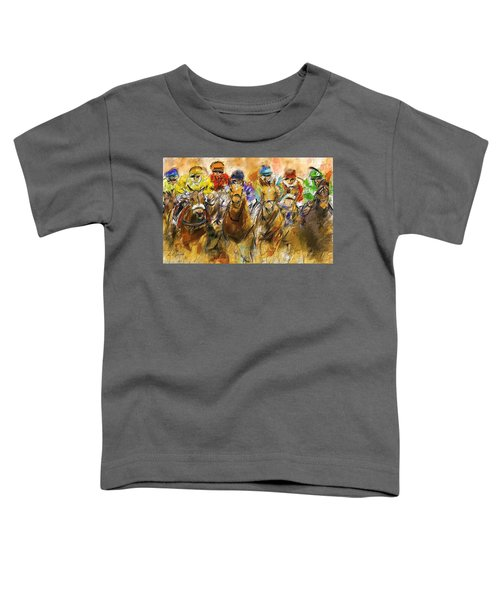 Horse Racing Abstract Toddler T-Shirt