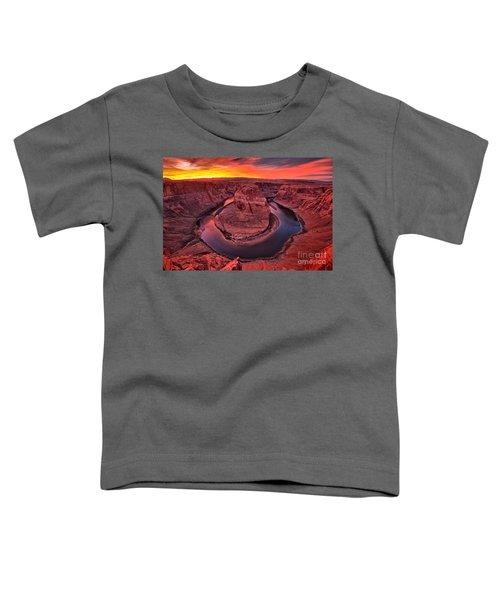 Horseshoe Bend Sunset Toddler T-Shirt
