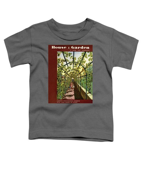 House & Garden Cover Illustration Of Young Girls Toddler T-Shirt