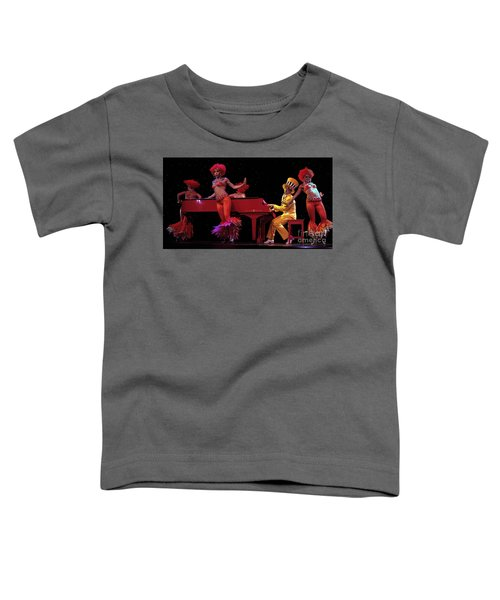 I Love Rock And Roll Music Toddler T-Shirt by Bob Christopher