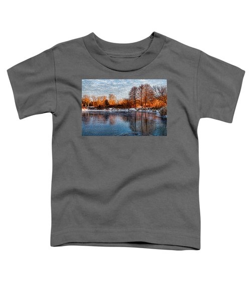 Icy Reflections At Sunrise - Lake Ontario Impressions Toddler T-Shirt