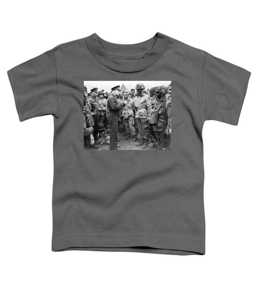 Ike With D-day Paratroopers Toddler T-Shirt