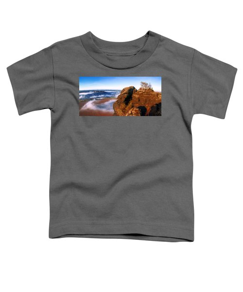 In The Sun Glowing Rock On The Lilienstein Toddler T-Shirt