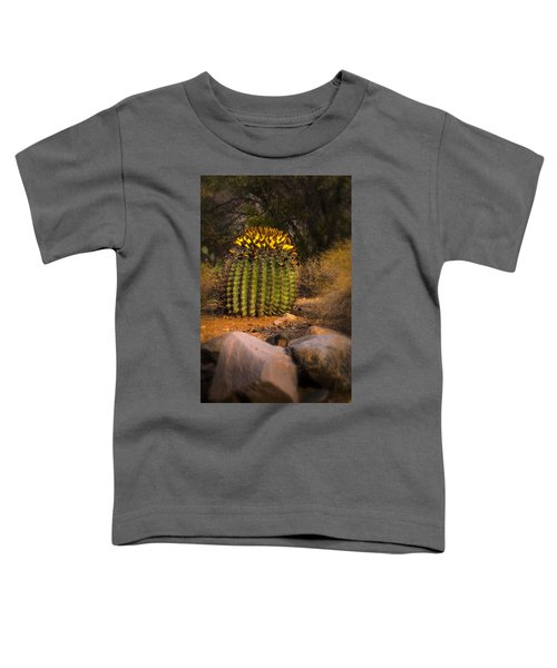 Toddler T-Shirt featuring the photograph Into The Prickly Barrel by Mark Myhaver