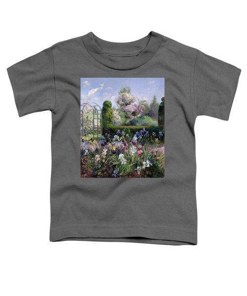 Irises In The Formal Gardens, 1993 Toddler T-Shirt