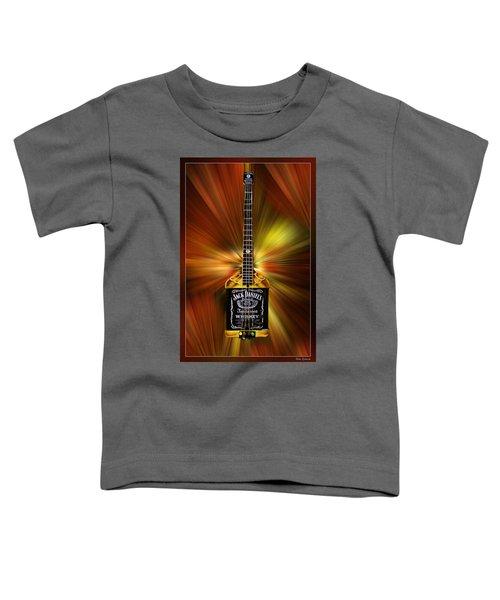 Jack Daniels Whiskey Guitar Toddler T-Shirt