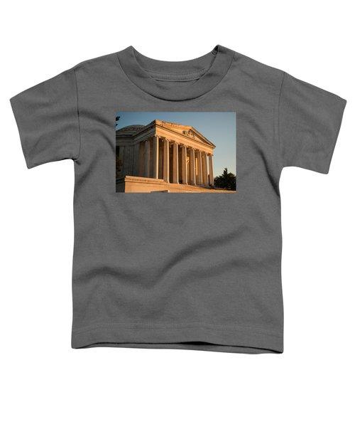 Jefferson Memorial Sunset Toddler T-Shirt by Steve Gadomski