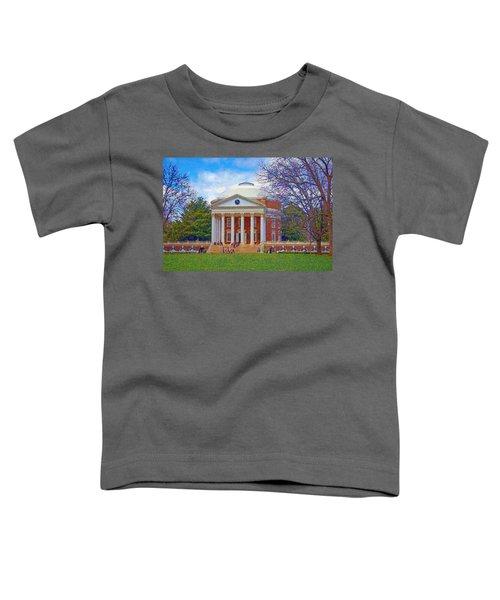 Jefferson's Rotunda At Uva Toddler T-Shirt