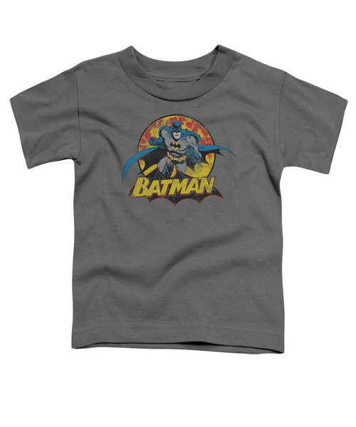 Jla - Batman Rough Distress Toddler T-Shirt