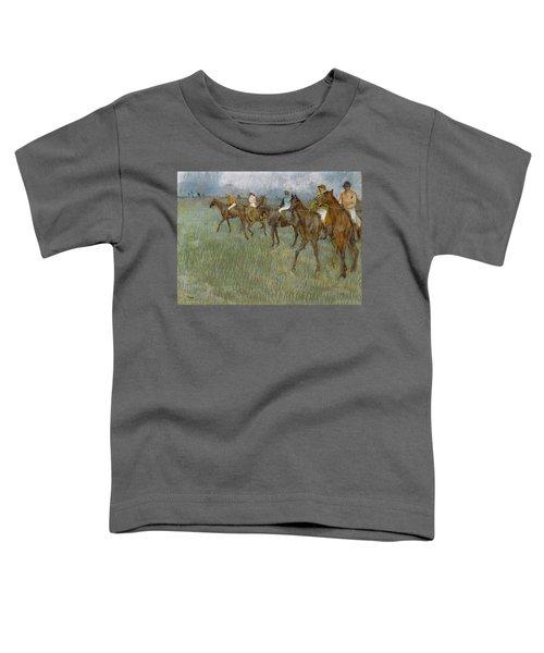 Jockeys In The Rain, 1886 Toddler T-Shirt