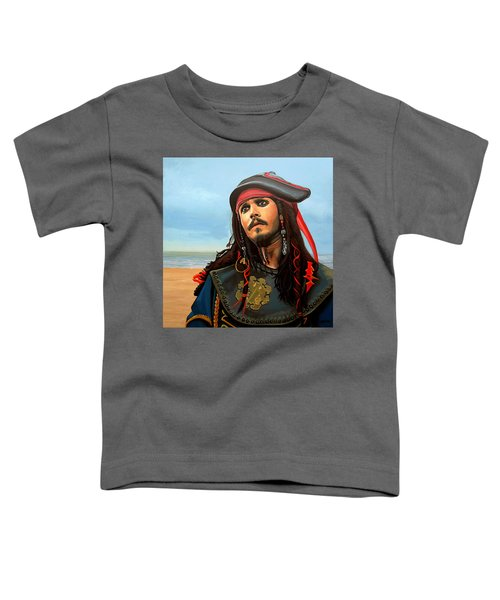 Johnny Depp As Jack Sparrow Toddler T-Shirt