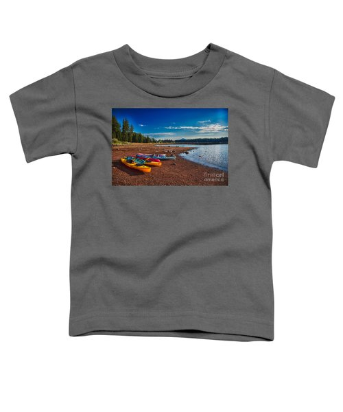Kayaking On Howard Prairie Lake In Oregon Toddler T-Shirt