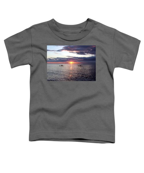 Kayaks At Sunset Toddler T-Shirt