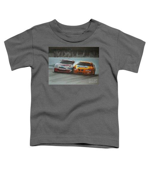 Kurt Busch And Ricky Craven-2003 Darlington Finish Toddler T-Shirt