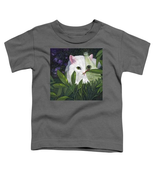 Ladybugs And Cat Toddler T-Shirt