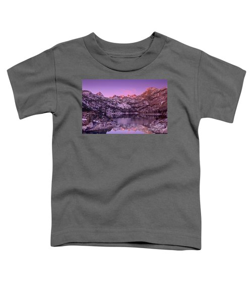 Lake Sabrina Sunrise Eastern Sierras California Toddler T-Shirt