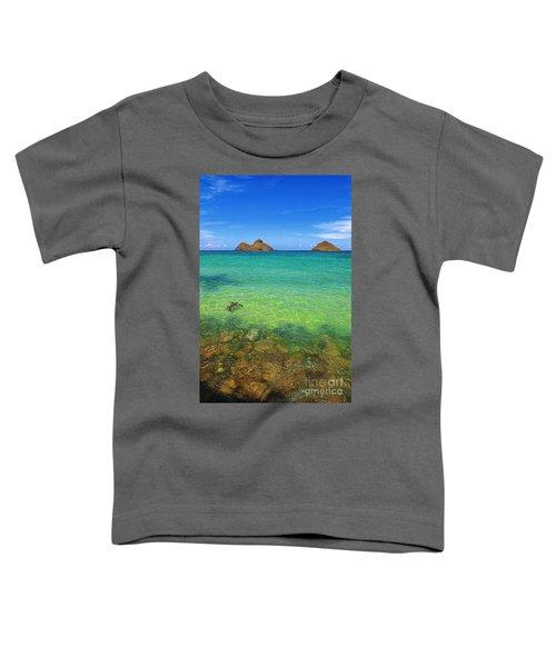 Lanikai Beach Sea Turtle Toddler T-Shirt