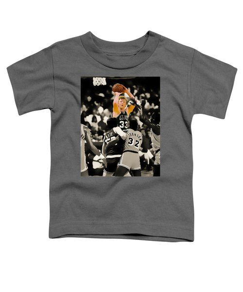 Larry Bird Toddler T-Shirt by Brian Reaves