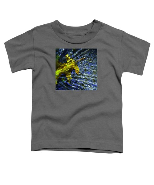 Leaf In Creek - Blue Abstract Toddler T-Shirt