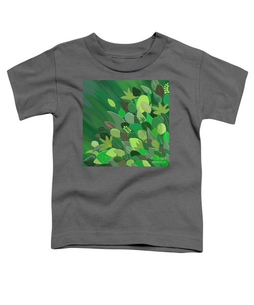 Leaves Are Awesome Toddler T-Shirt by Linda Lees