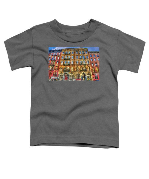 Led Zeppelin Physical Graffiti Building In Color Toddler T-Shirt by Randy Aveille
