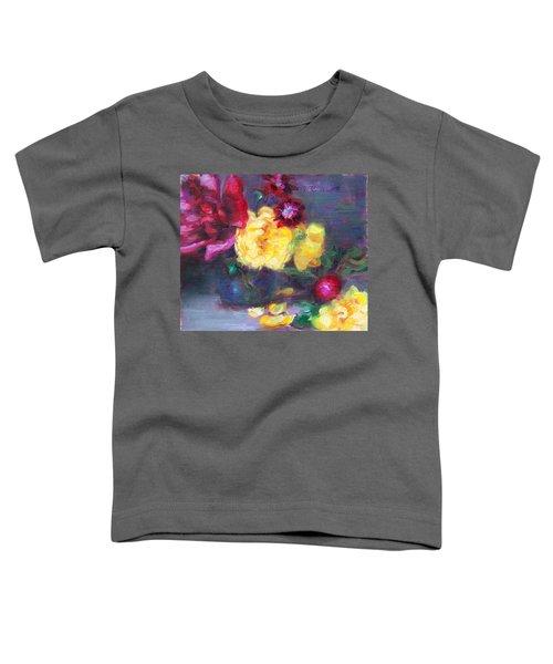 Lemon And Magenta - Flowers And Radish Toddler T-Shirt