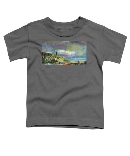 Lighthouse And Fisherman Toddler T-Shirt
