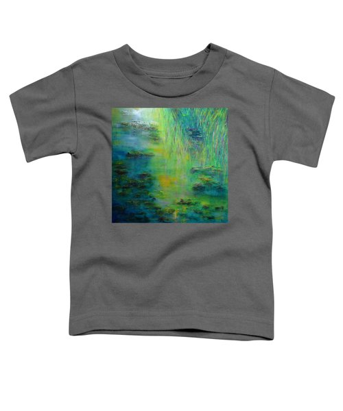 Lily Pond Tribute To Monet Toddler T-Shirt