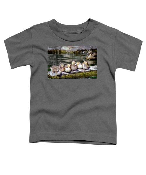 Little Ducklings On A Log Toddler T-Shirt