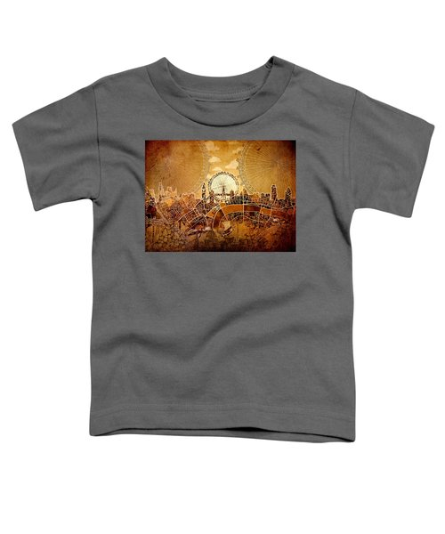London Skyline Old Vintage  Toddler T-Shirt