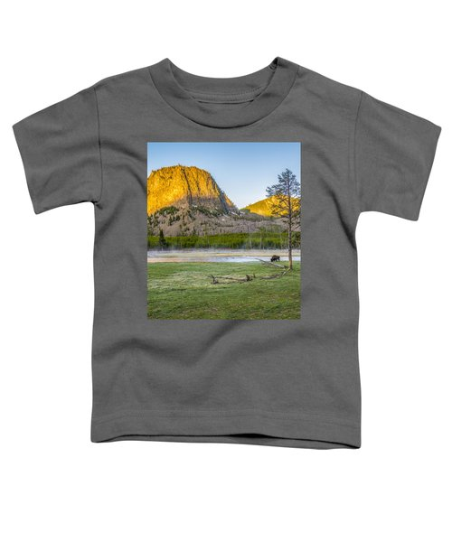 Lone Buffalo Yellowstone National Park Toddler T-Shirt