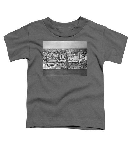 Looking Up Flagler Street At Downtown Miami Toddler T-Shirt