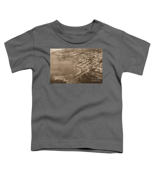 Aerial Of Lovers Point And Pacific Grove California July 10 1906 Toddler T-Shirt
