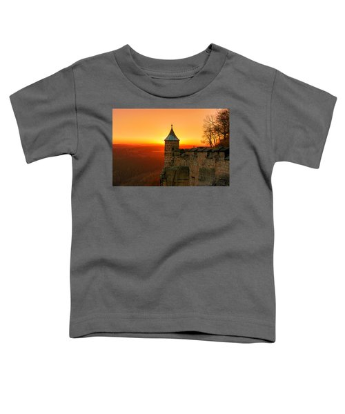 Low Sun On The Fortress Koenigstein Toddler T-Shirt