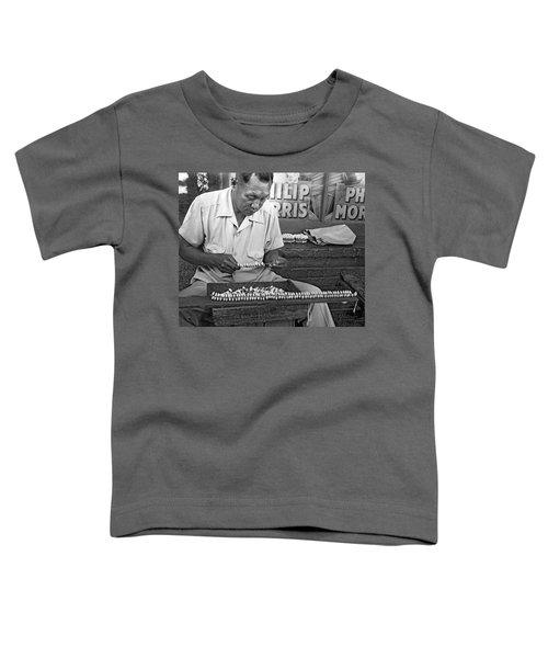Making Puka Shell Necklaces Toddler T-Shirt