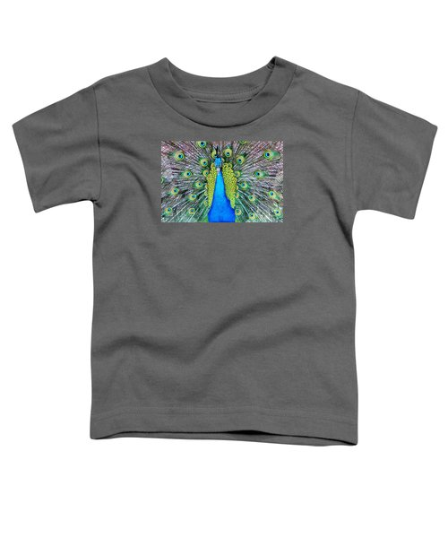 Male Peacock Toddler T-Shirt