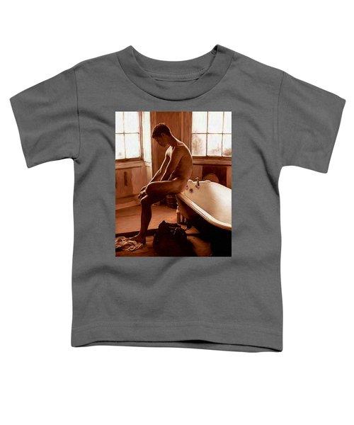 Man And Bath Toddler T-Shirt