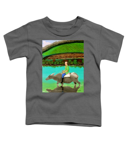 Man Riding A Carabao Toddler T-Shirt