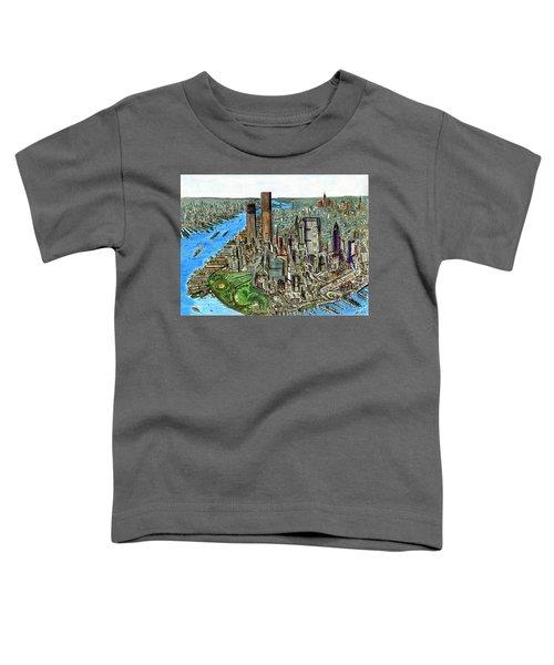 New York Downtown Manhattan 1972 Toddler T-Shirt