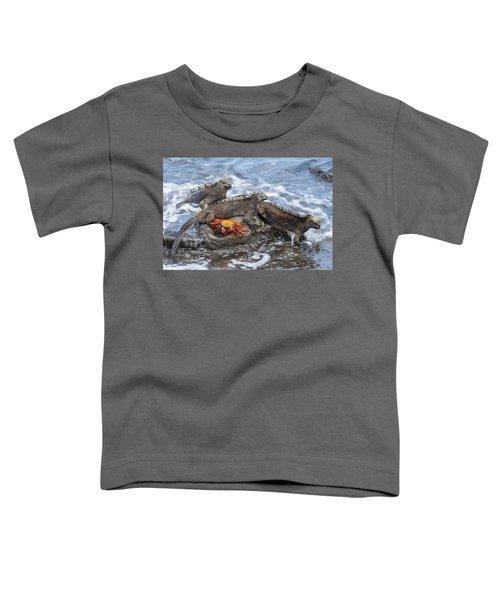 Marine Iguana Trio And Sally Lightfoot Toddler T-Shirt