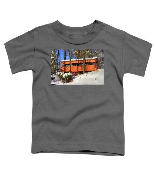 Maryland Country Roads - The Hidden Covered Bridge Of Braddock Mountain - Frederick County Toddler T-Shirt