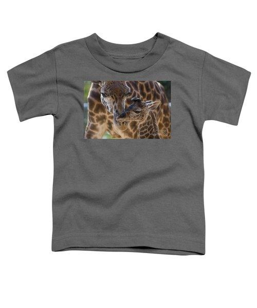 Masai Giraffe And Calf Toddler T-Shirt