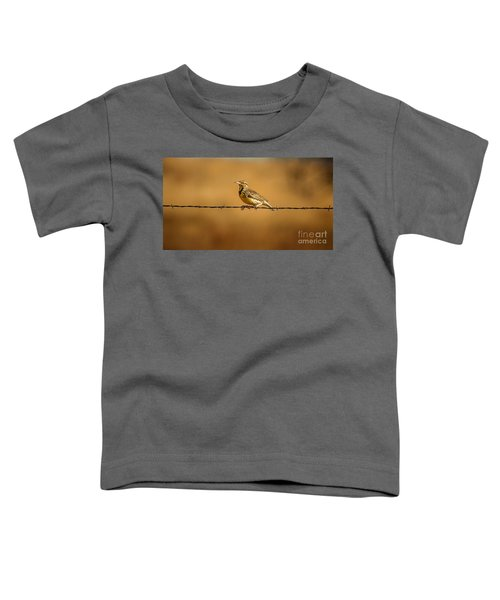 Meadowlark And Barbed Wire Toddler T-Shirt by Robert Frederick