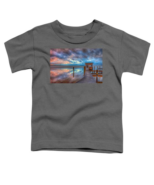 Melvin Village Marina In The Fog Toddler T-Shirt