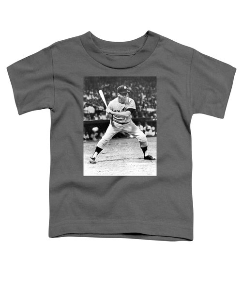 Mickey Mantle At Bat Toddler T-Shirt by Underwood Archives